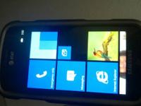 "4"" Samsung running Liquid Windows Phone 7.8 OS. It"