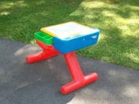 For sale is this neat and clean child's play desk. It