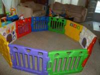 Todays kids gate 10panels, huge playyard gate. Call .