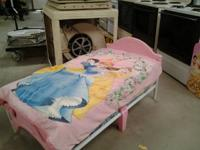 Toddler Bed Pink & White With Mattress Only $ 30.00 Can