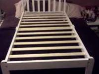 White Toddler Bed almost brand new. Original retail