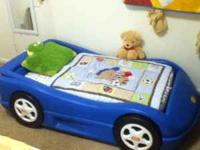 Toddler bed with mattress for sale. call or text me @