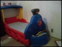 Toddler Train Bed. $45.00 For information or pictures