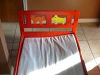 toddler bed was bought from ikea just about 1 year ago,