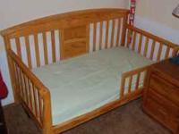 nice toddler bed w/mattress and sheets  Location: w sac