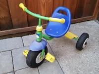 Blue/green bike: $25 Red/blue Radio Flyer bike: $20