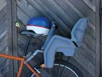 Used Toddler Seat and Helmet. Good condition. Currently