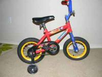 "12"" Huffy. 2 years old. Great condition. Slight fade"