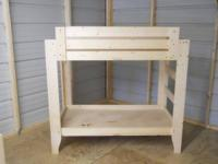 TODDLER BUNK BEDS   HOME MADE   110.00 ON ALL BUNK BEDS