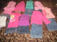 cute winter lot in good condition.9 matching outfits