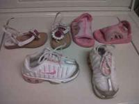 Toddler girl size 7 lot 2 pairs of sandals and 1 pair