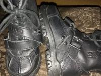 Toddler Black Leather Ralph Lauren Colbey Boots. Size 5