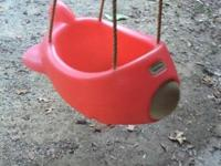 Little tikes airplane style toddler swing. Has seat