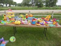 All toys on table, $25. Call or text . Location: