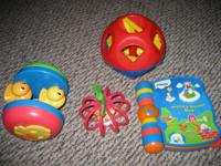 I HAVE 4 DIFFERENT TODDLER TOYS IN GOOD CONDITION THE