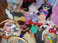 Alot of toys for babies/toddlers. stuffed animals $1,