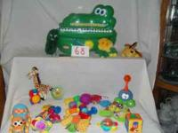 This set includes one fisher price play wagon with 25
