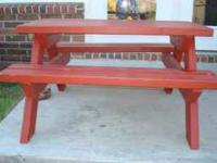 I have for sale solid wooden picnic table as displayed
