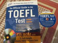 I have brand new Toefl, ETS book which has CD-ROM. I