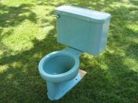 Circa 1951, American Standard close-coupled toilet in