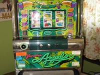 PARADISE ANGELS TOKEN SLOT MACHINE IT WORKS!! 3 DIALS