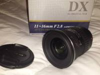 Tokina 11-16mm F2.8 AT-X 116 PRO DX bought NEW August