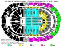I have two tickets for Tom Petty, Section 124, Row K.
