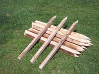 For sale: 4 and 5 ft hardwood tomato stakes. Each post