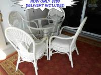 Here is a Beautiful Tommy Bahama Style Wood Dining Set