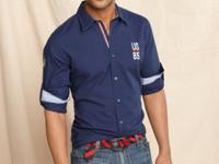 Casual styled button front shirt by Tommy Hilfiger with