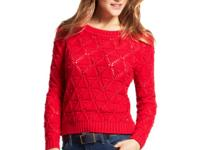 Tommy Hilfiger's pointelle-knit sweater features chic