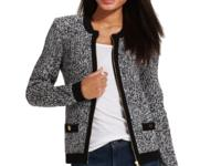 Tommy Hilfiger's marled tipped cardigan features a