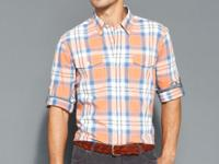 This plaid shirt from Tommy Hilfiger gives your casual