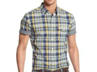 Flex your style muscles with this short-sleeved plaid