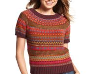 Fair Isle-knit lends a classic and colorful touch to