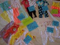 FOR SALE: BABY GIRL NEWBORN CLOTHES 5 CARTER SLEEPERS 5
