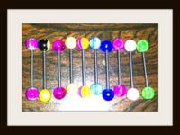 "12"" stick/ Band new, no package, diferent colors $4"