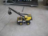 Various Tonka trucks, crane, loader, backhoe Steel and