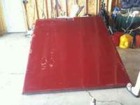 Fiberglass truck bed cover for Ext Cab Chevy Truck.