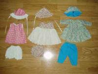 I have lots of hand made doll clothes for sale. They