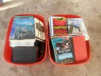 selling two tubs of books there are a lot of different