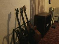 Up for sale are a bunch of Schecter electric guitars, a
