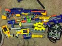 Lots of nerf guns and ammo. I am making room for