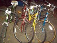 here is some pictures of some of the bicycles. also