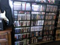 We have hundreds of video games and tons of different