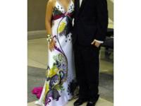 Tony Bowls formal gown with rhinestones and