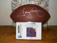 Dallas Cowboys Tony Dorsett autographed football with