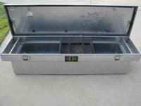 H&H tool box for full size truck bed . In excellent