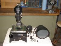 Gaertner Scientific toolmakers microscope and optical