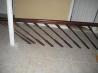 Wood Stair Railing - $80.00. 8 Feet length, features